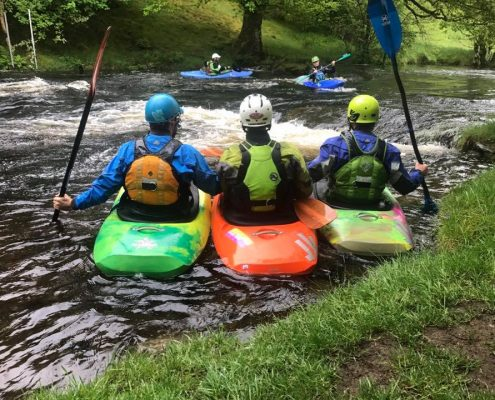 Regents Canoe Club at the Tryweryn